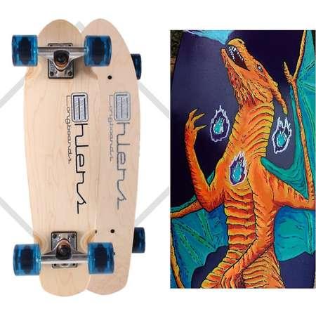 Custom Painted Pokemon Penny Board Mini Skateboard Custom Longboard COMPLETE thumb