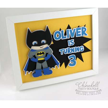 superhero party sign   bedroom decor   personalised with any message   inspired by batman spiderman captain america hulk wonder woman flash thumb