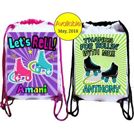 "Trolls Party, 12 Personalized Party Backpacks, Trolls Themed Drawstring Backpack, Trolls Favor Bags,8""x10.5""inches FREE PERSONALIZATION thumb"
