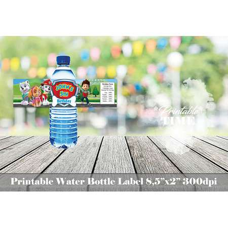 Paw Patrol water bottle label, Paw Patrol  bottle label, Paw Patrol birthday, Paw Patrol label, Printable party labels, PawPatrol labels thumb