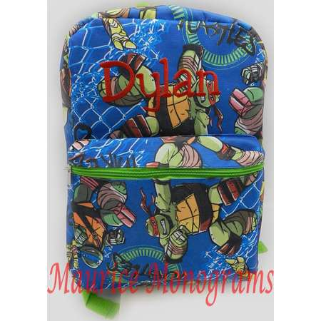 Personalized Teenage Mutant Ninja Turtles Print Canvas School Backpack  FREE Monogram thumb