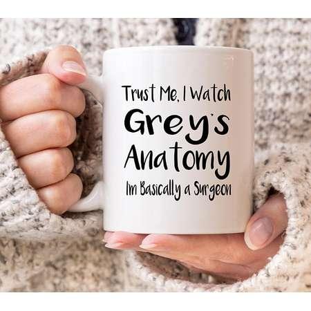 Trust Me, I Watch Greys Anatomy, I'm Basically a Surgeon Meredith Grey Cristina Yang 11oz MUG thumb