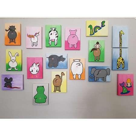 Barnyard Animals and Pets - PICK ANY 2 Animal Anus Art Inspired by Bob's Burgers thumb