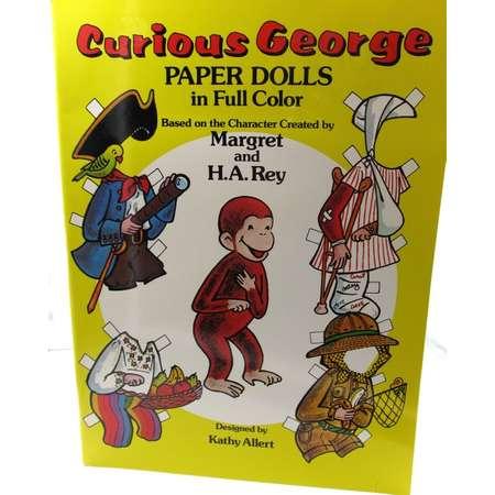 Vintage 1982 Curious George Fashion Paper Dolls Album, Margaret and H.A. Rey Curious George Paper Dolls, Vintage Curious George Collectors thumb