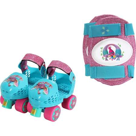 DreamWorks Trolls Poppy Youth Glitter Roller Skates & Knee Pads Set by PlayWheels thumb