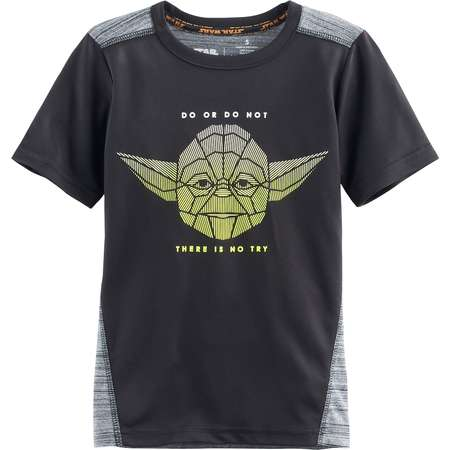 """Boys 4-7x Star Wars a Collection for Kohl's Yoda """"Do Or Do Not There Is No Try"""" Graphic Tee thumb"""