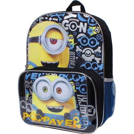 Despicable Me Minions Bob & Kevin Backpack & Lunch Tote Set thumb
