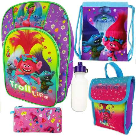 DreamWorks Trolls Poppy Kids 5-pc. Backpack, Lunch Box & Accessory Set thumb