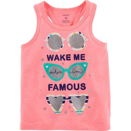 """Toddler Girl Carter's """"Wake Me When I'm Famous"""" Graphic Tank Top thumb"""