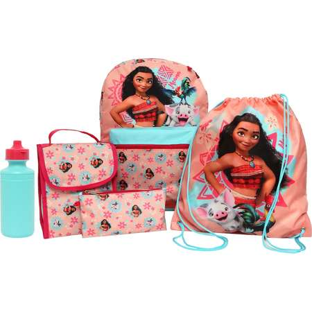 Disney's Moana Kids Backpack, Lunch Tote, Cinch Bag, Gadget Case & Water Bottle Set thumb