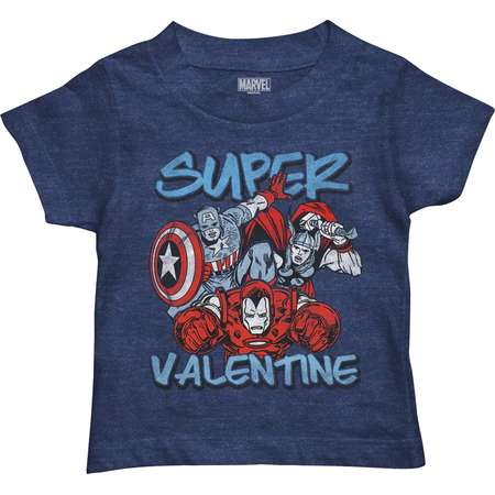 "Toddler Boy Marvel Avengers ""Super Valentine"" Graphic Tee thumb"