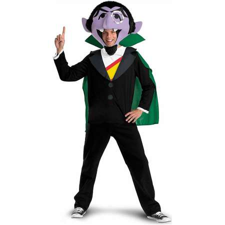 Sesame Street - The Count Adult Costume - X-Large(42-46) thumb
