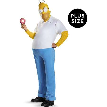 The Simpsons: Homer Deluxe Adult Costume thumb