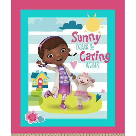 Doc Mcstuffins Sunny Caring Panel Fabric thumb