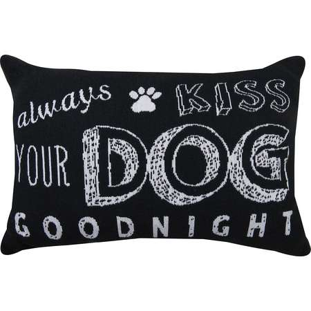 Park B. Smith® Always Kiss Your Dog Goodnight Tapestry Decorative Pillow thumb