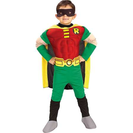 Teen Titans DC Comics Robin Muscle Chest Deluxe Toddler/Child Costume thumb