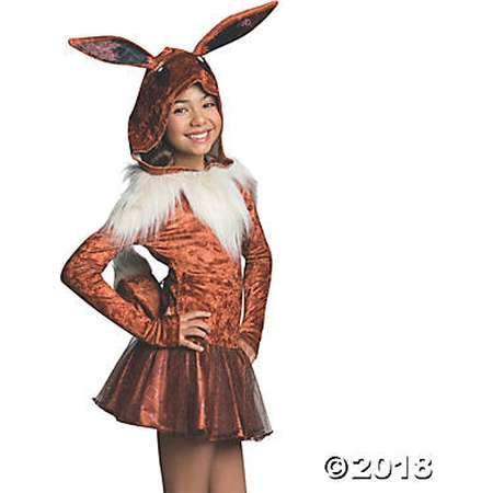Girl's Pokemon Eevee Hoodie Dress Costume thumb
