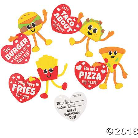 Valentine Fast Food Bendables with Card thumb