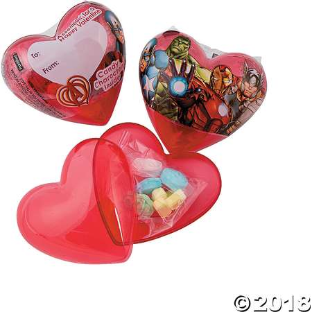 Avengers Assemble™ Classroom Valentine Hearts with Candy thumb