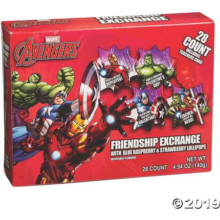 Avengers™ Lollipop Friendship Valentine Exchange thumb