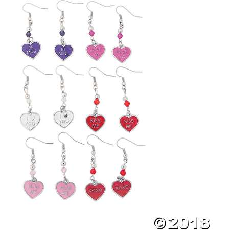Candy Heart Charm Earring Craft Kit thumb