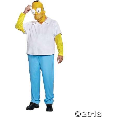Men's Deluxe The Simpsons Homer Costume - Medium/Large thumb