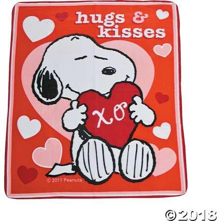 Peanuts® Valentine Fleece Throw thumb