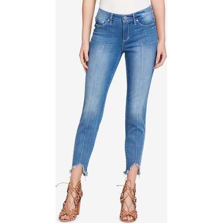 Jessica Simpson Juniors' Kiss Me Asymmetrical-Hem Skinny Jeans thumb