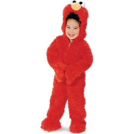 Sesame Street Elmo Plush Deluxe Toddler Boys or Girls Costume thumb