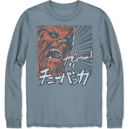 Men's Long-Sleeve Chewbacca Graphic T-Shirt thumb