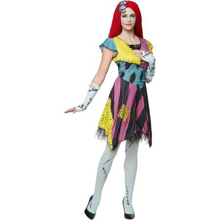 adult sassy sally costume the nightmare before christmas thumb - Sally Nightmare Before Christmas Wig