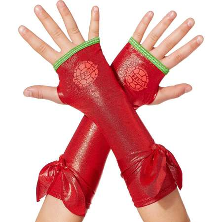 Kids Metallic Raphael Arm Warmers - Teenage Mutant Ninja Turtles thumb