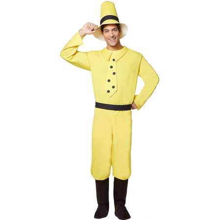 Adult Man in Yellow Hat Costume - Curious George thumb
