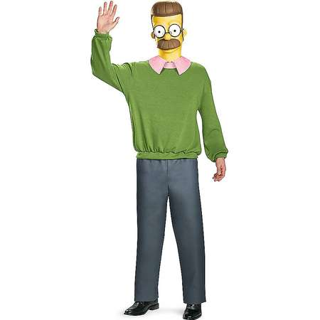 Adult Ned Flanders Costume Deluxe - The Simpsons thumb